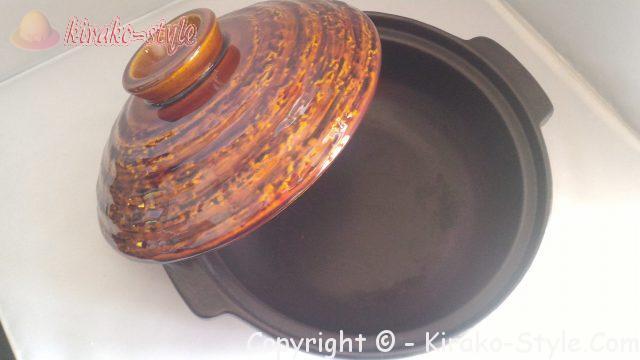 直火専用の萬古焼の土鍋、8号画像