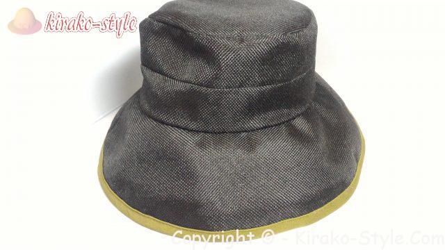 林八百吉(HAYASHI YAOKICHI)のレディースの帽子 黒 前から