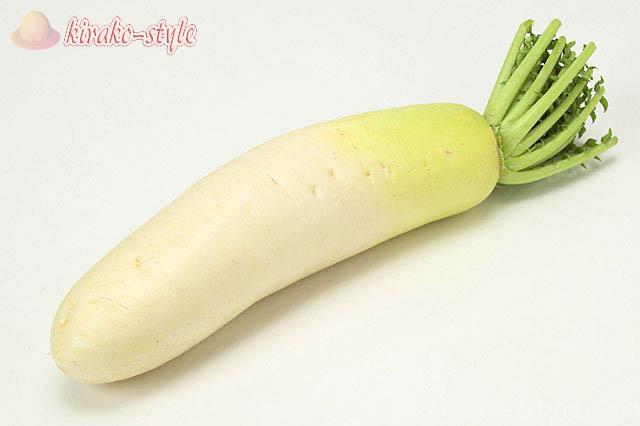 ぬか漬けに適している野菜、大根、大根の画像